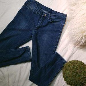 ksubi super skinny ankle zip jeans - dark indigo